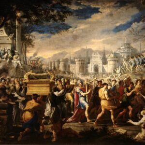 Domenico Gargiulo's painting of David carrying the ark of the covenant back to Jerusalem
