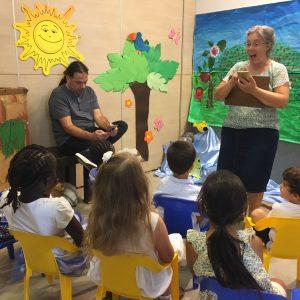 teacher teaching children in Shabbat School